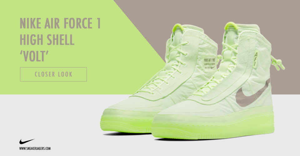 Nike Air Force 1 High Shell 'Volt' Release Info </p>                     </div>                     <!--bof Product URL -->                                         <!--eof Product URL -->                     <!--bof Quantity Discounts table -->                                         <!--eof Quantity Discounts table -->                 </div>                             </div>         </div>     </div>              </form>  <div style=