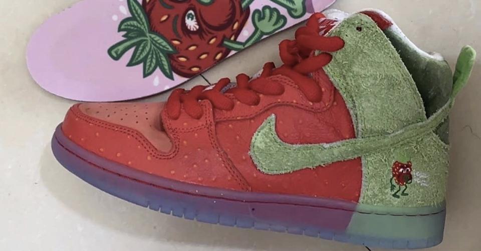 Nike SB viert 420 dit jaar met de Dunk High 'Strawberry