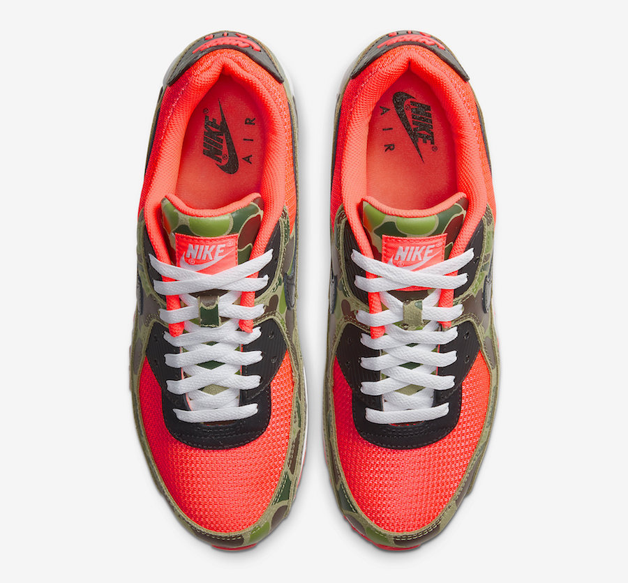 Nike Air Max 90 Rubber Patch 2 Camouflage Green Orange