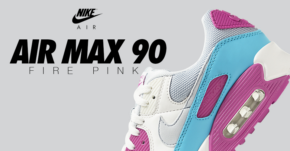De Nike Air Max 90 'Fire Pink' is nu verkrijgbaar in zomerse