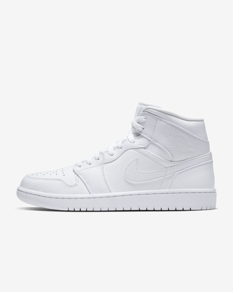 Air Jordan 1 Mid 'Triple White'
