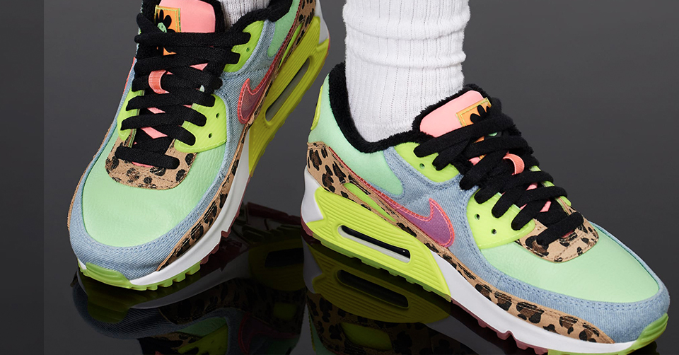 Nu verkrijgbaar: De Nike WMNS Air Max 90 LX 'Illusion Green