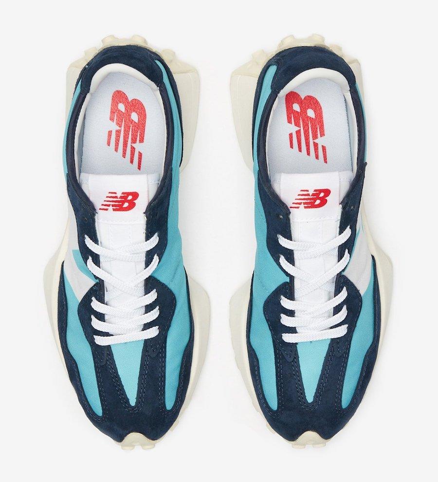 New Balance 327 'Navy Aqua'