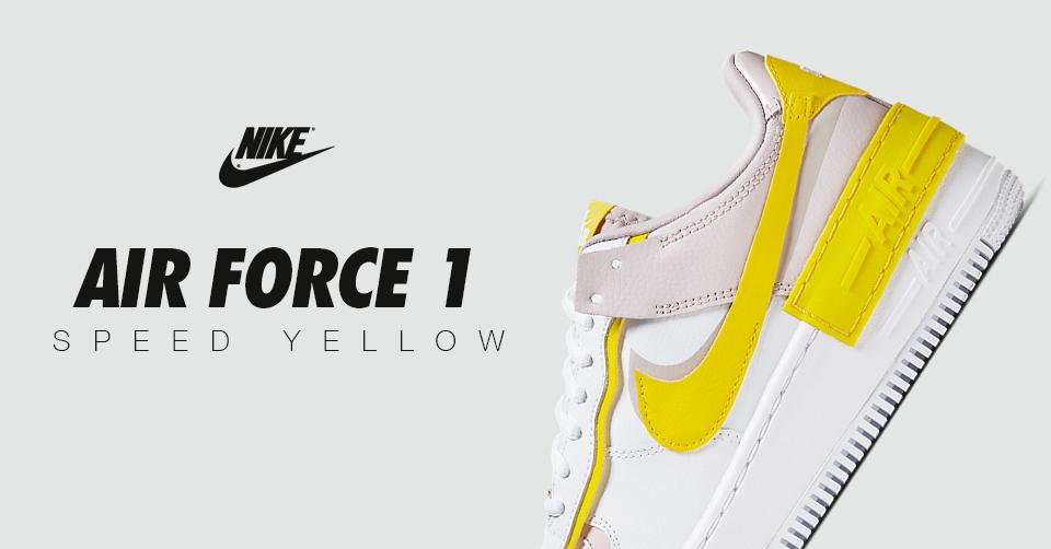De nieuwe Nike Air Force 1 Shadow 'Speed Yellow' is nu ...