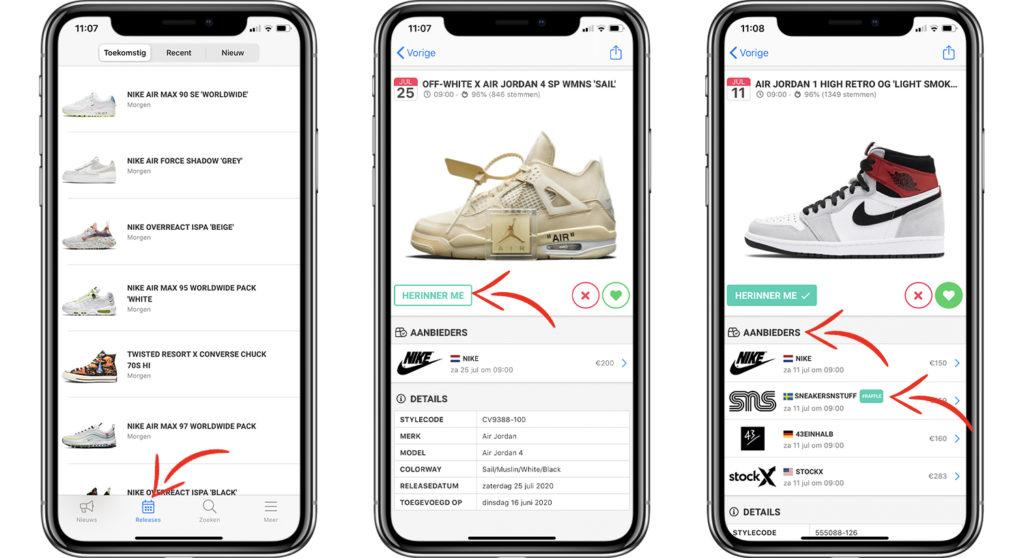 Sneakerjagers app