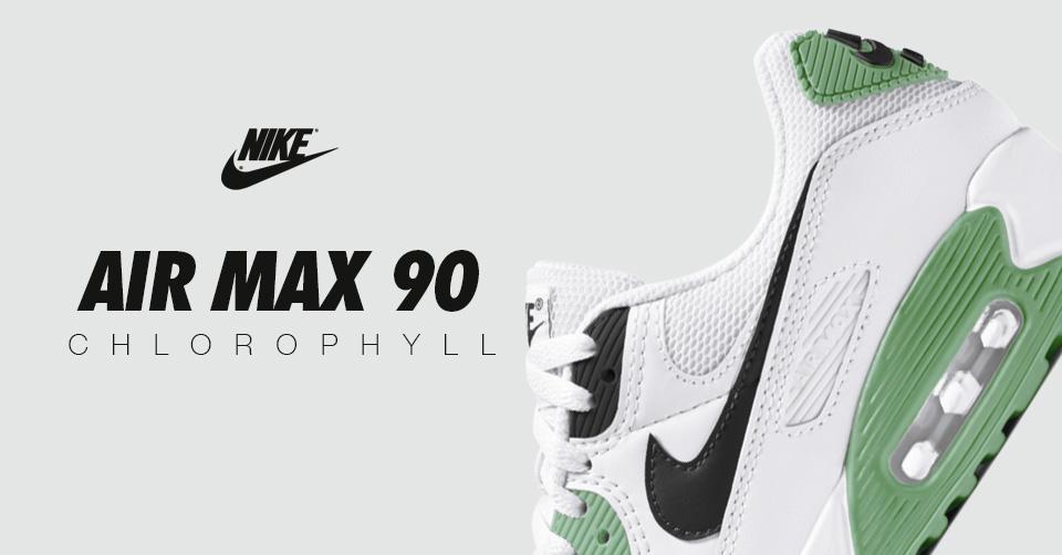 De Nike Air Max 90 'White Chlorophyll' komt binnenkort uit