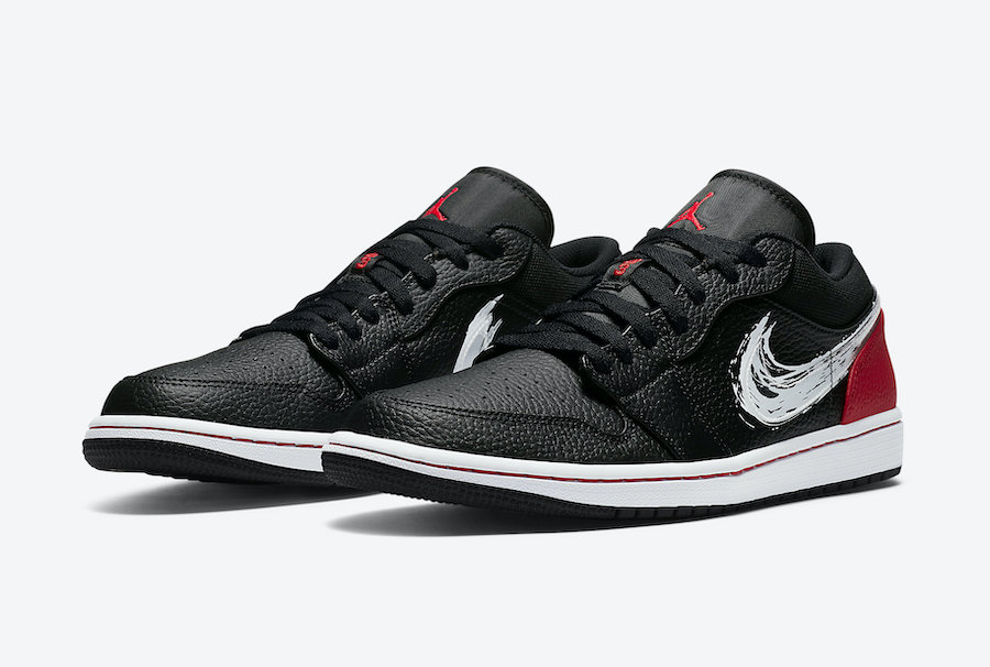 Air Jordan 1 Low 'Brushstroke Swoosh'