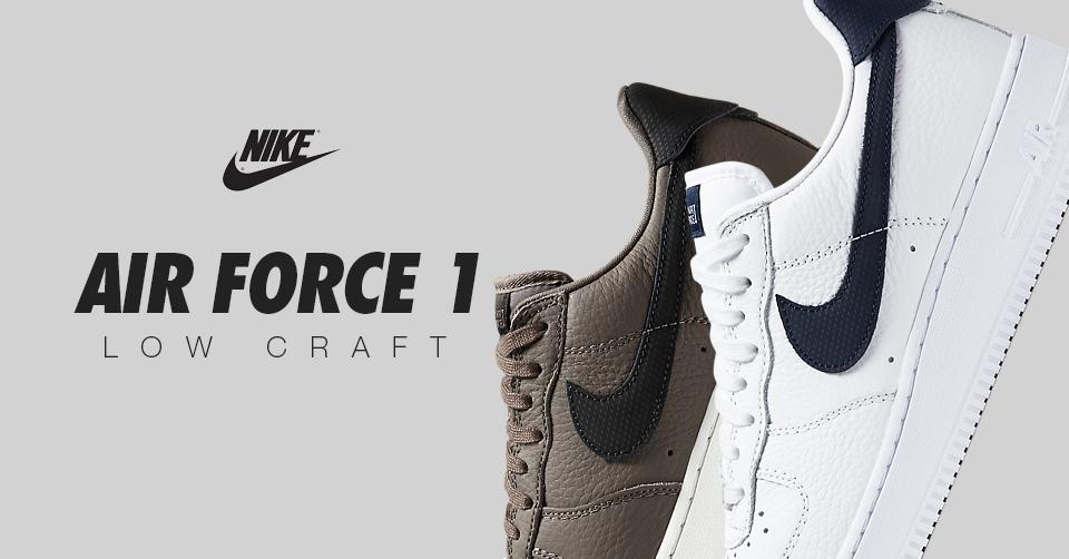 Air force 1 Low Craft White/Obsidian & Ridgerock/Black