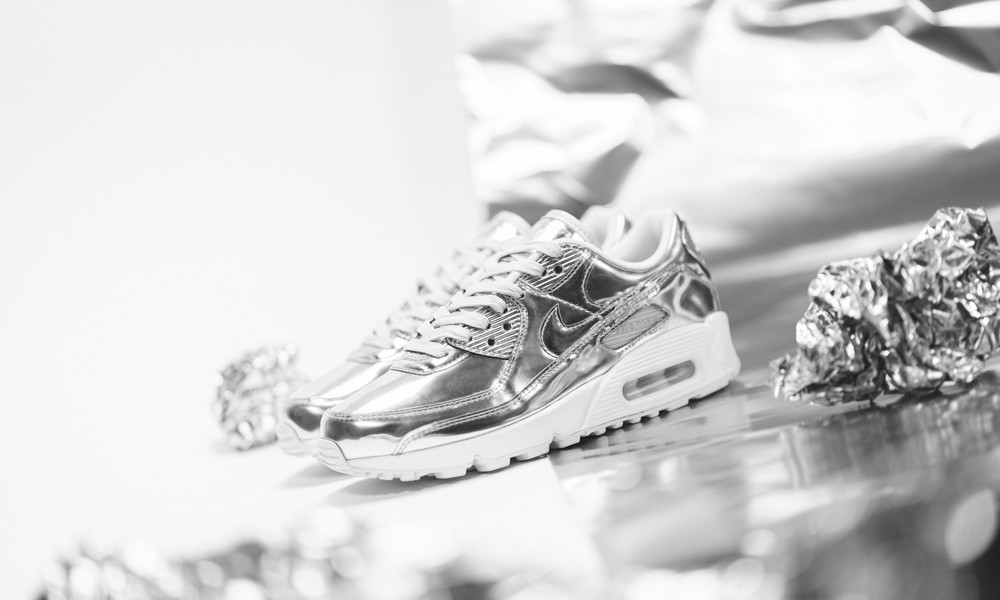 Nike air Max 90 metallic pack silver