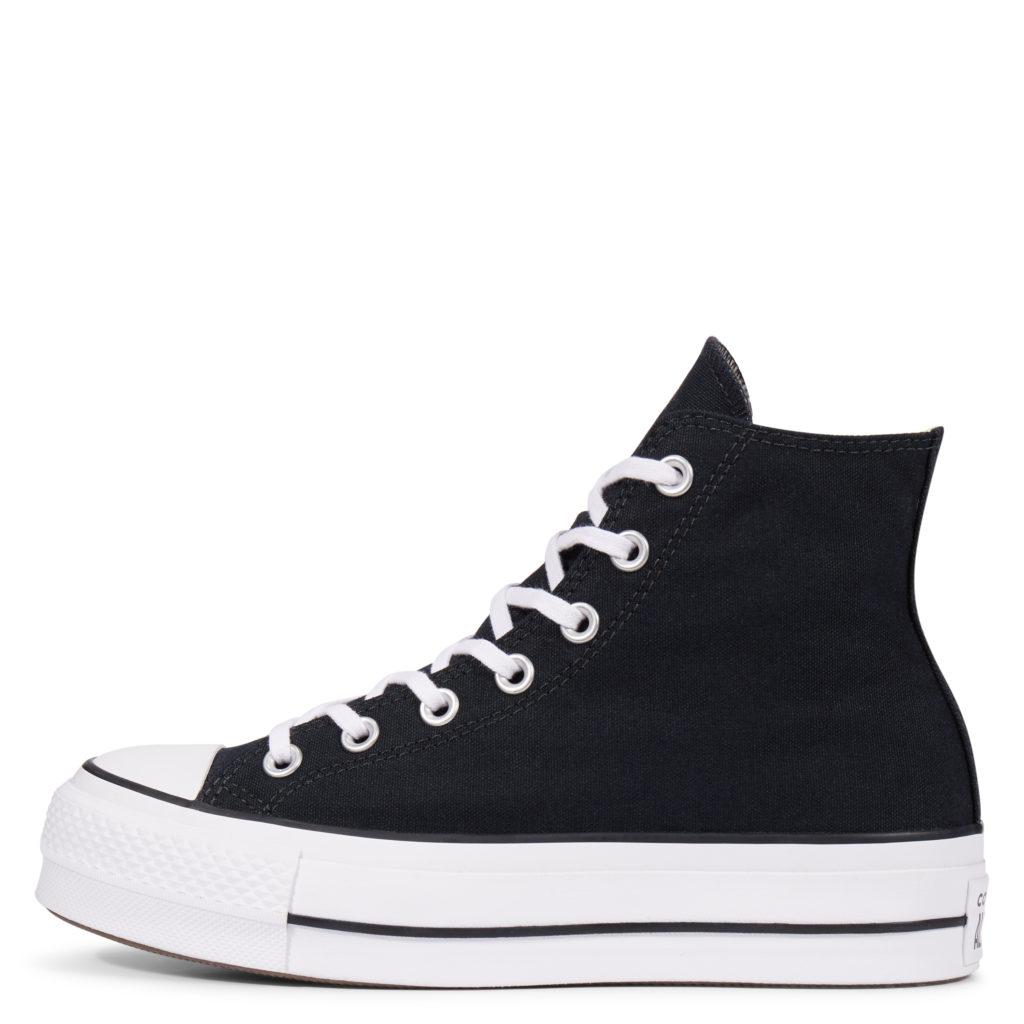 Converse Platform zwarte dames sneakers