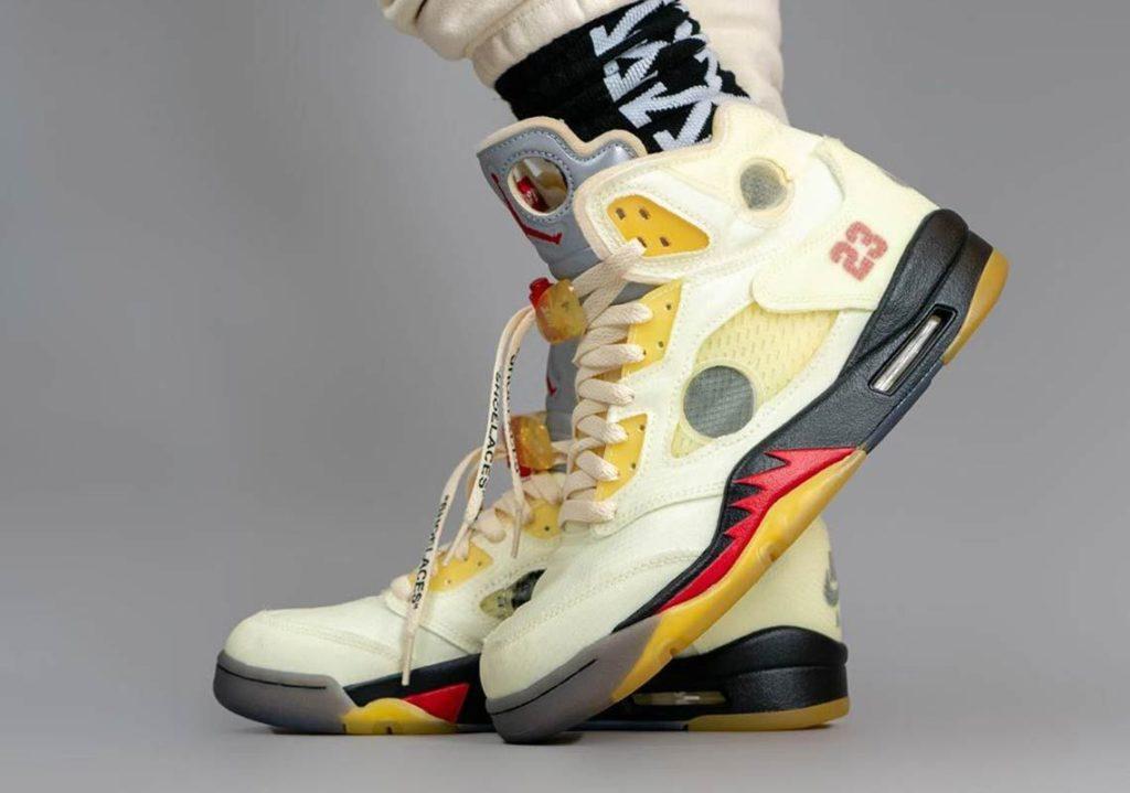 Off-White x Air Jordan 5 'Fire Red'