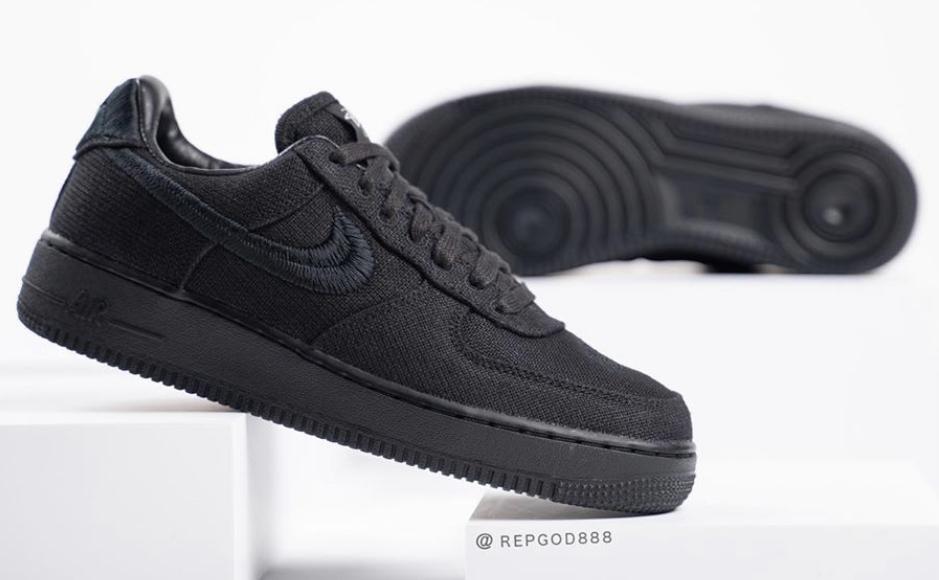 Stüssy x Nike Air Force 1 black