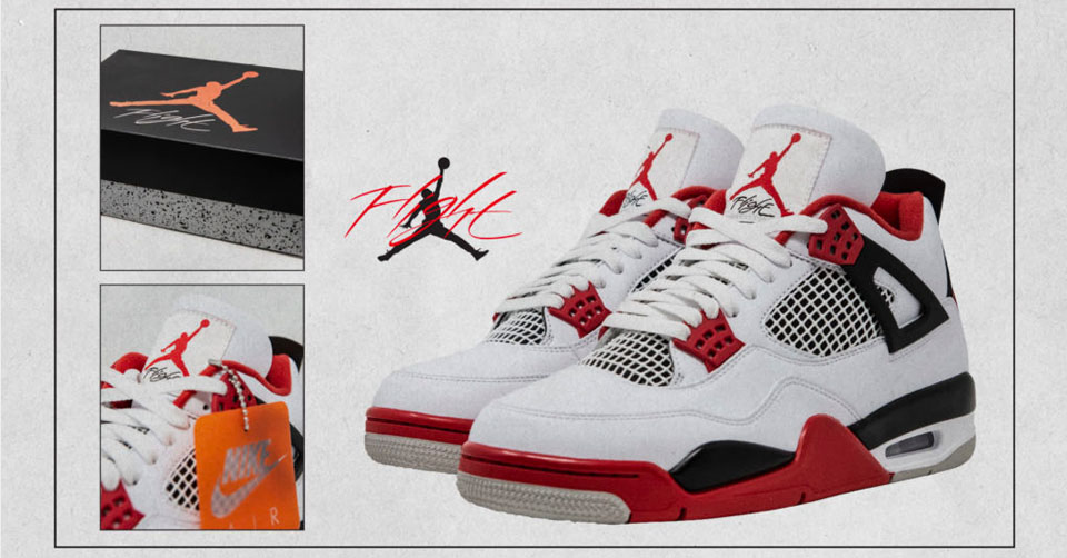 Jordan 4 'Fire Red'