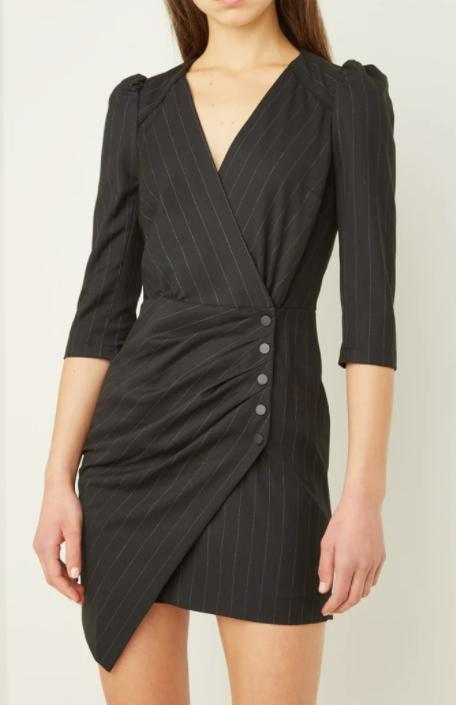 ba & sh black dress
