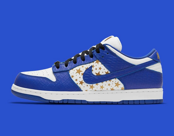 Supreme Nike SB Dunk Low Stars 'Hyper Blue'