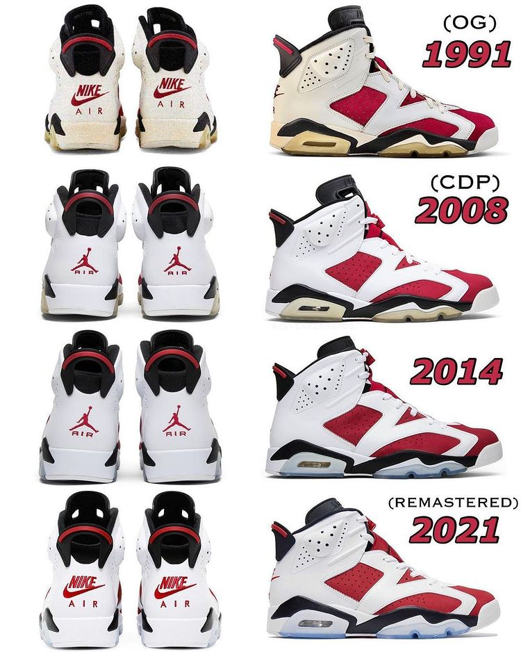 Jordan 6 'Carmine'