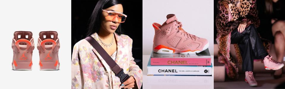 Aleali May x Jordan 6 Millenial Pink