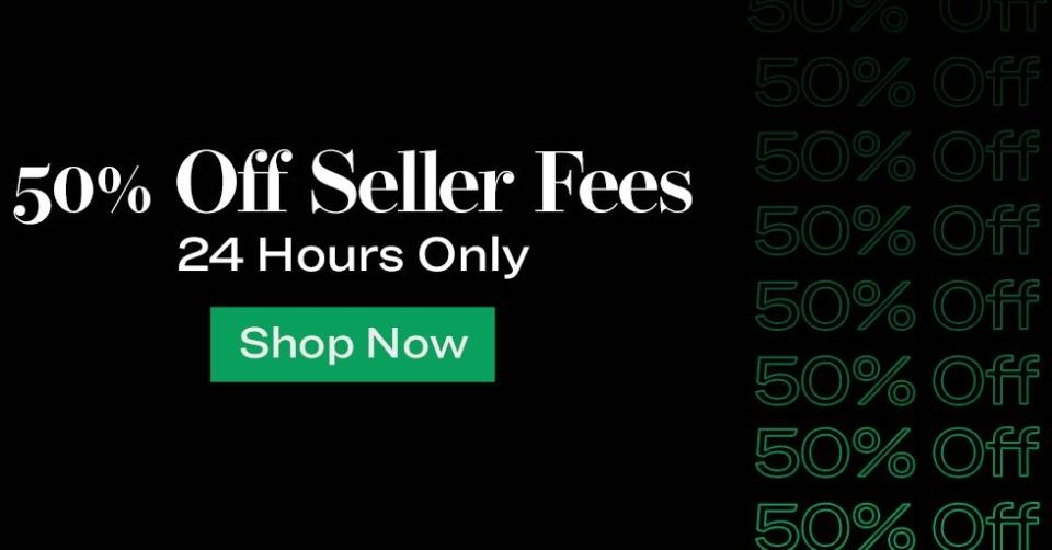 50% korting op verkoopkosten bij stockx