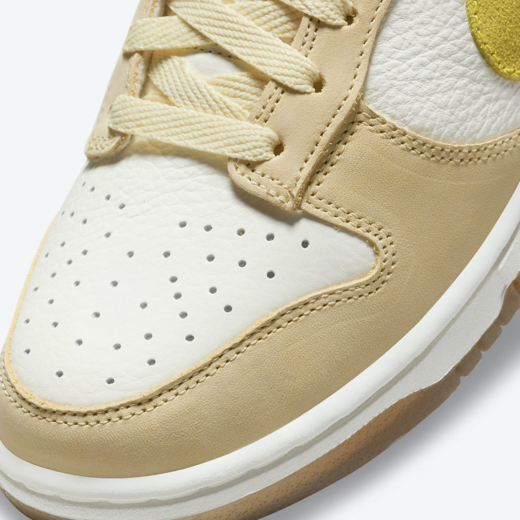 Nike Dunk Low Lemon Drop texture