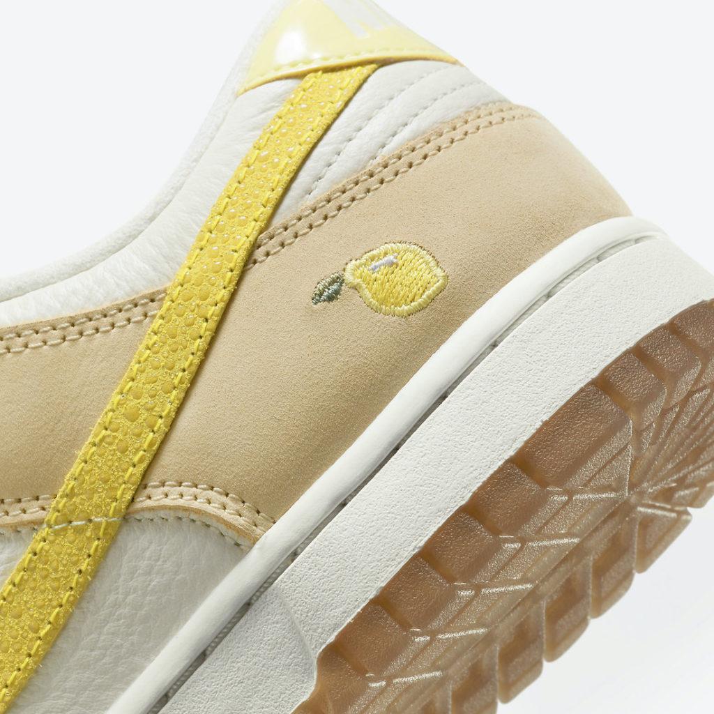 Nike Dunk Low Lemon drop details citrus