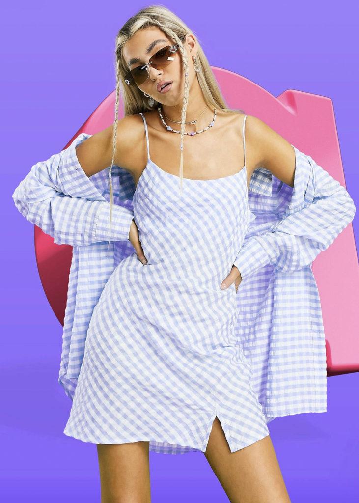 Asos checkered dress