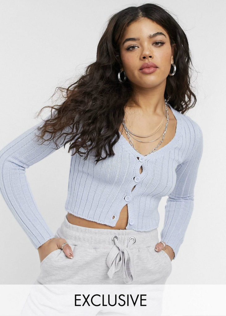 Light Blue cropped top