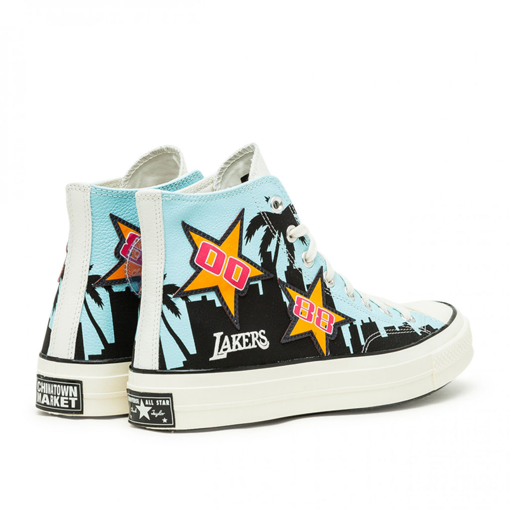 lakers chunk 70 high top converse x chinatown market back