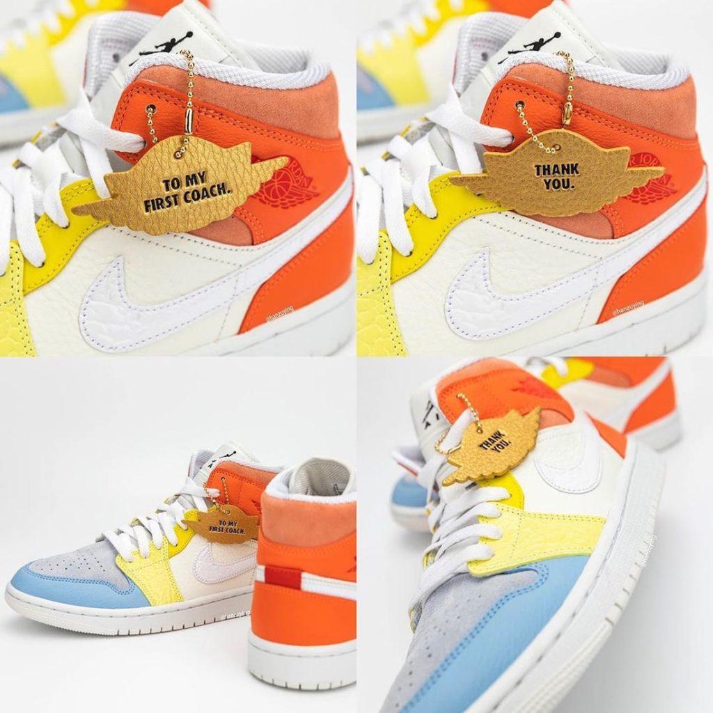 Nike Air Jordan 1 Mid To My First Coach DJ6908-100