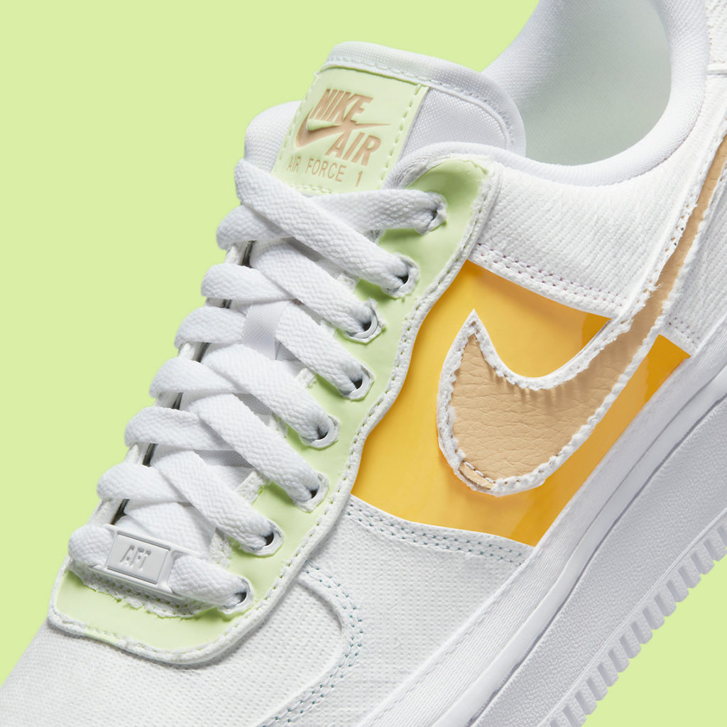 Nike Air Force 1 WMNS Tear away yellow orange green lime