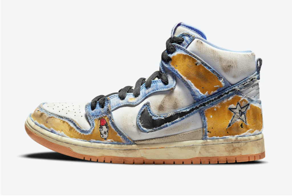 Carpet Company x Nike SB Dunk High peel off change