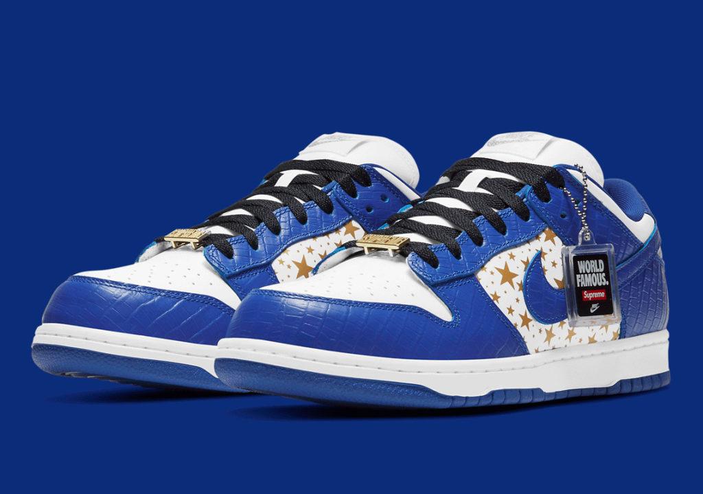 Supreme x Nike SB Dunk crocodile low