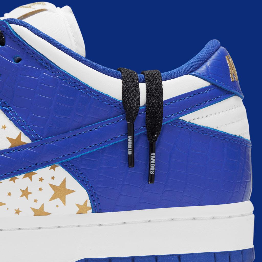 Nike SB x Supreme Dunk laces world famous