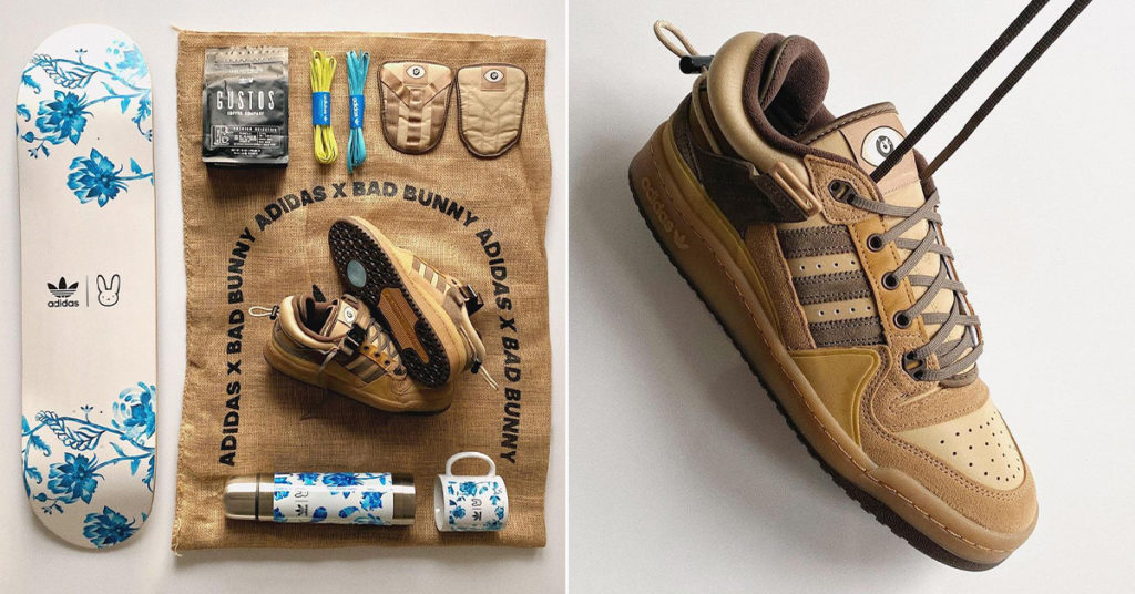 Bad Bunny x adidas Forum Buckle Low 'The First Café' details sneakerjagers skate