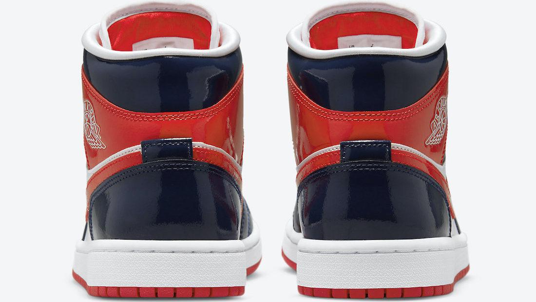 Air Jordan 1 Mid Patent 'Navy Orange'