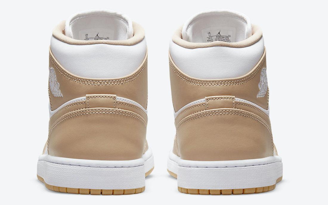 Air Jordan 1 Mid Tan Gum | 554724-271