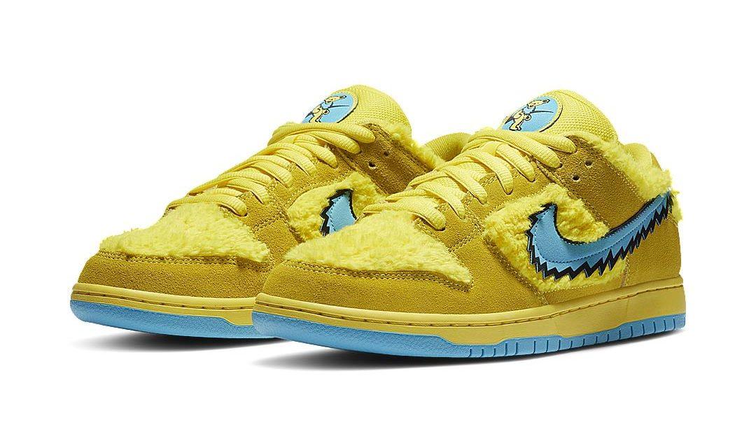 Nike SB Dunk Low Grateful Dead Bears Opti Yellow CJ5378-700