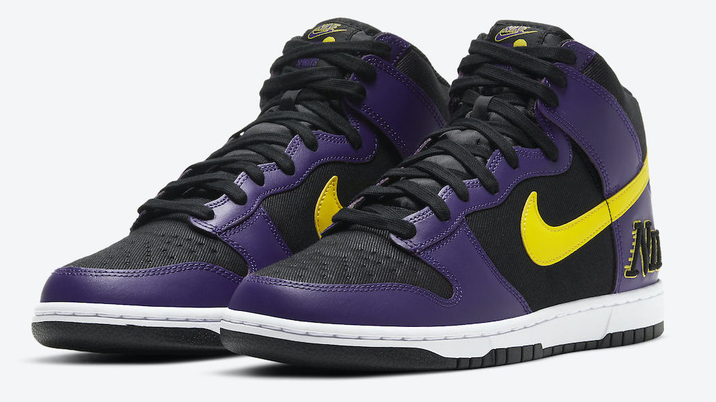 Nike Dunk High EMB Lakers | DH0642-001 'Court Purple'
