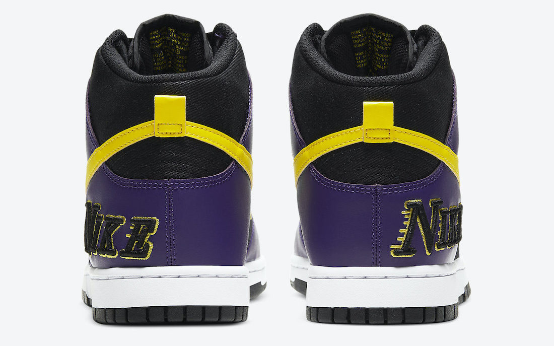 Nike Dunk High EMB Lakers 'Court Purple' | DH0642-001