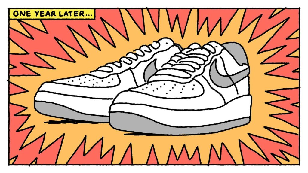 drawing nike shoe