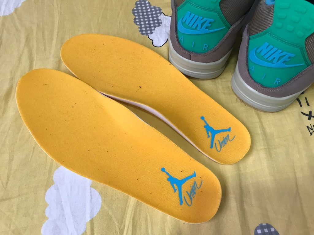 Union LA x Air Jordan 4 30th anniversary sole yellow