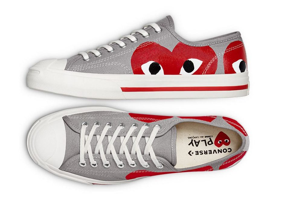 COMME des GARÇONS PLAY X Converse Jack Purcell OX 'Red' 2021 | 171260C