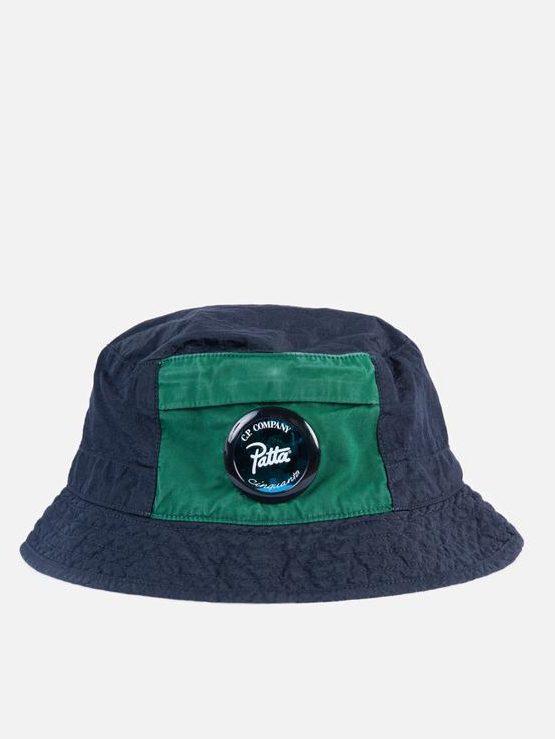 Patta x C.P Company M.T.t.N. Bucket Hat (Total Eclipse)