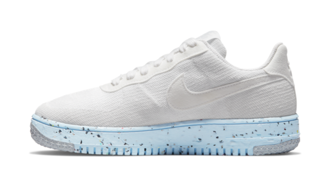 DC7273-100 Nike Air Force 1 Crater Flyknit 'Pure Platinum'