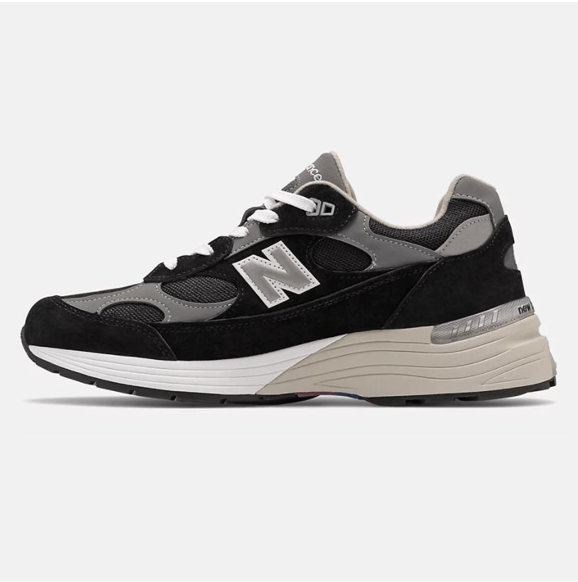 New Balance M992EB black suede