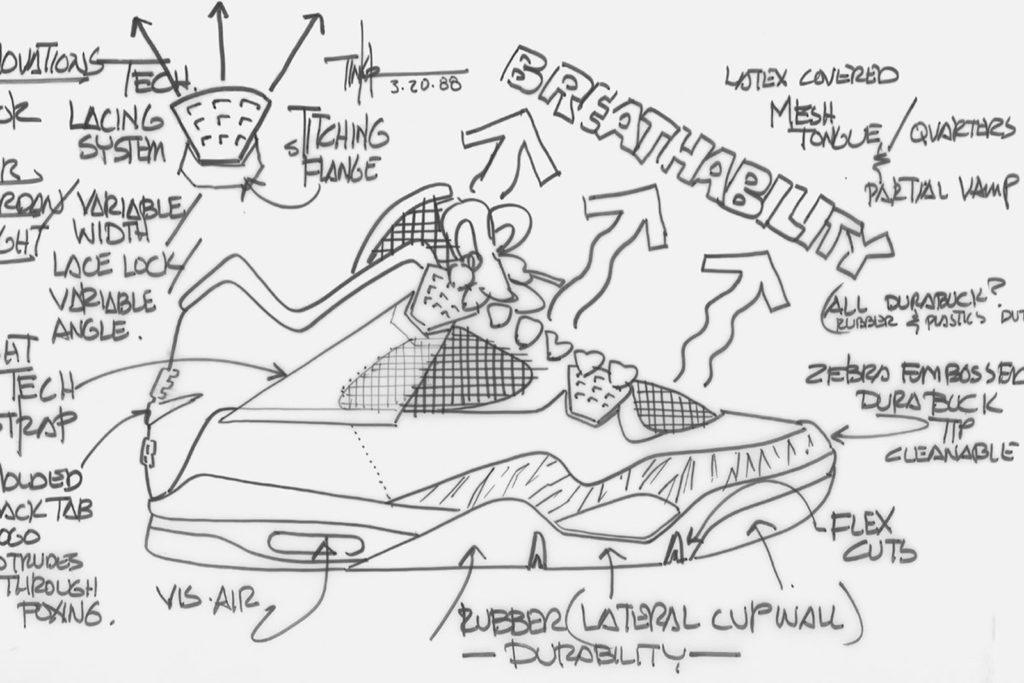 Air Jordan 4 schets