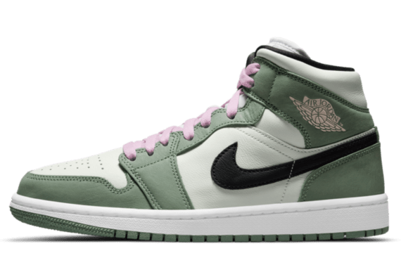groene sneaker Air Jordan 1 Mid 'Dutch Green'
