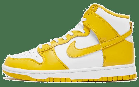 Nike Dunk High 'Dark Sulfur' gele sneakers