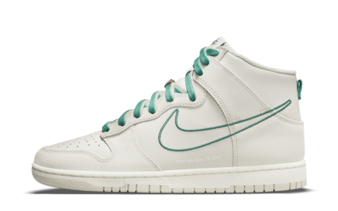 Hyped Sneaker Releases Nike Dunk High 'First Use' - Green Noise