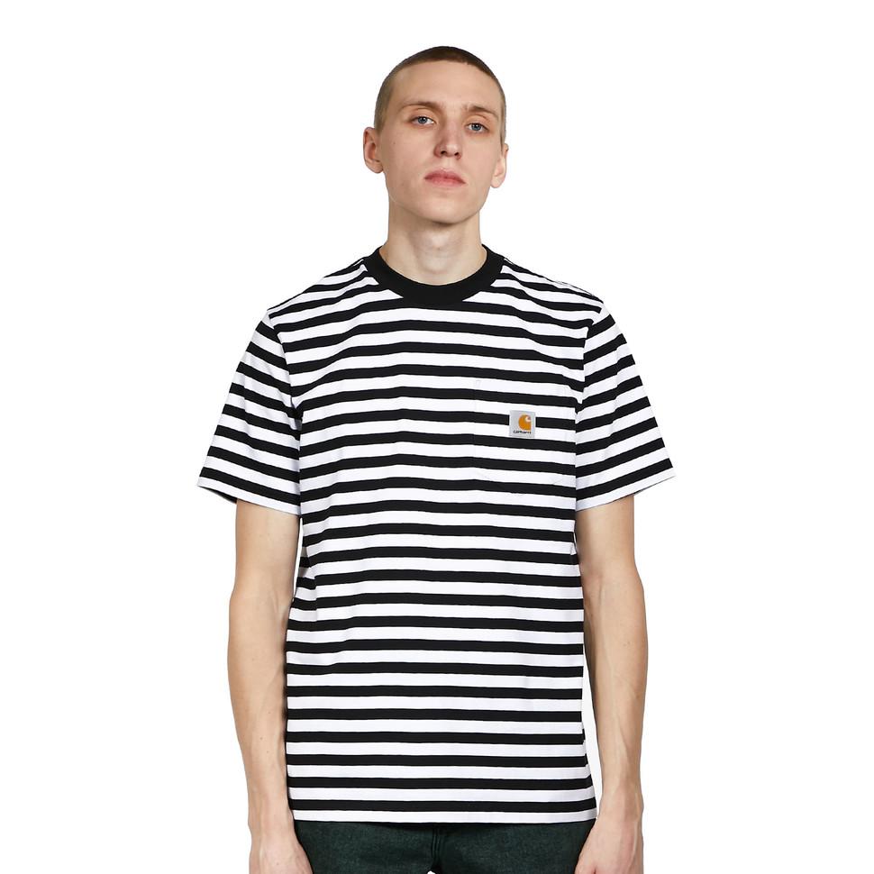Carhartt WIP gestreept S/S Scotty Pocket T-Shirt