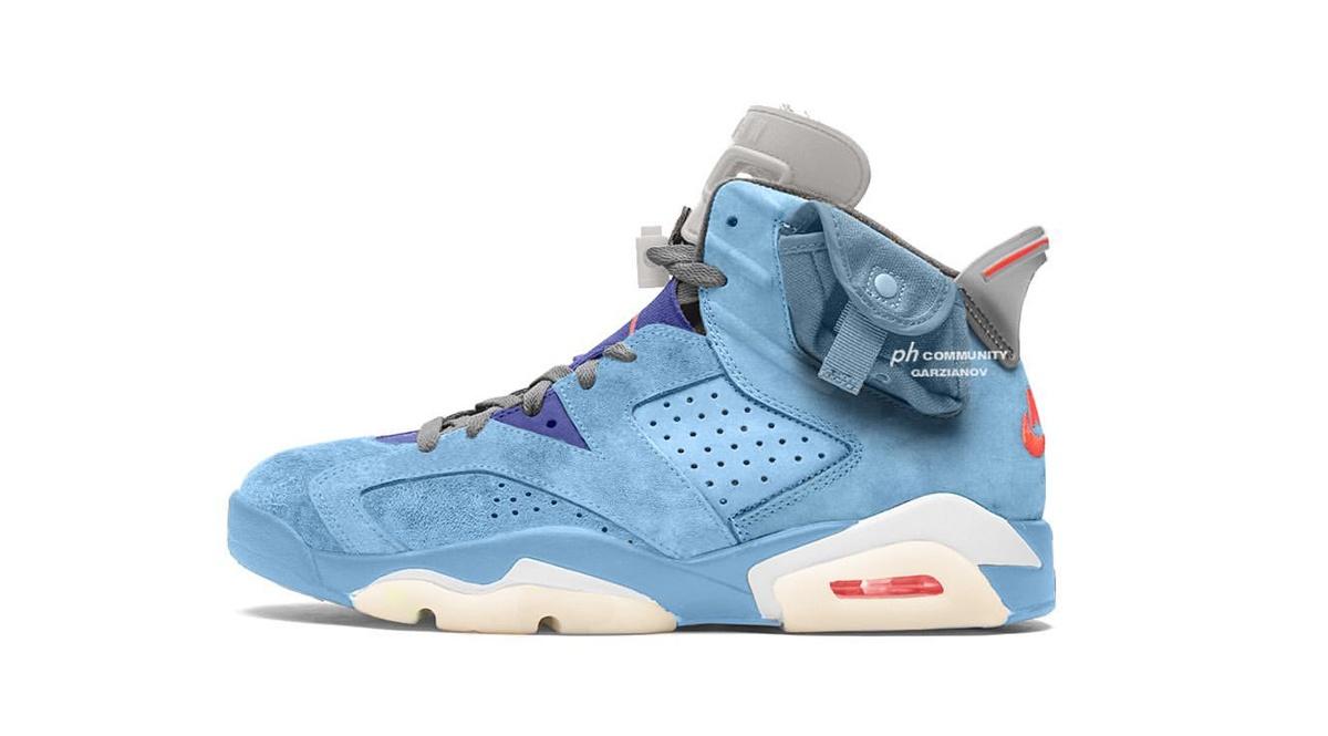 Air Jordan 6 x Cactus Jack 'Light Blue'